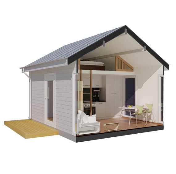 Attefallshus med loft byggsats